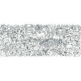 Плакат-раскраска «На ферме» (60х150 см)