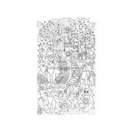 Плакат-раскраска «Сказочное дерево» (60х100 см)