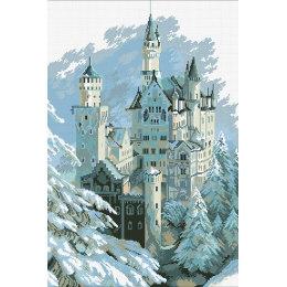 Алмазная вышивка Замок Нойшванштайн