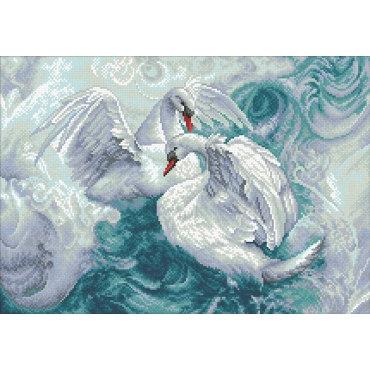 Алмазная вышивка Лебеди