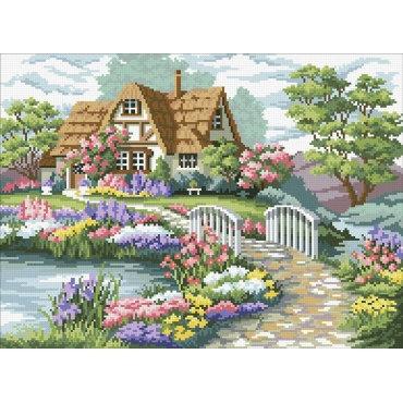 Алмазная вышивка Загородный домик