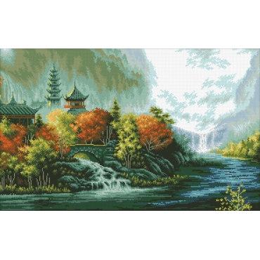 Алмазная вышивка Китайский пейзаж