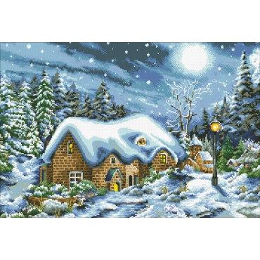 Алмазная вышивка Рождественская ночь