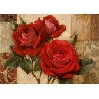 Алмазная вышивка Алые розы