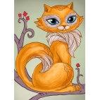 Алмазная вышивка Мудрая кошка