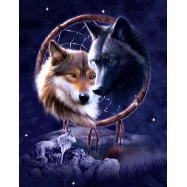 Алмазная вышивка Ночные волки