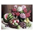 Георгины и фрукты