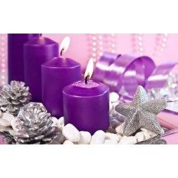 Алмазная вышивка Фиолетовые свечи