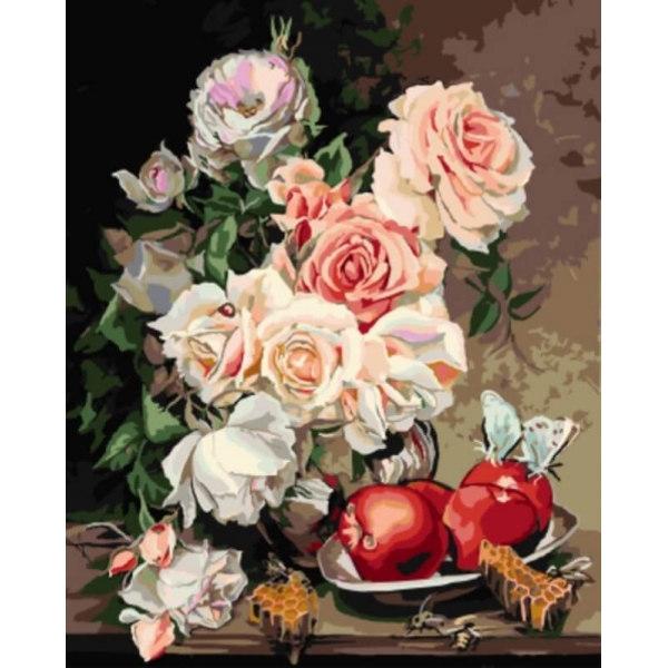 Розы с яблоками