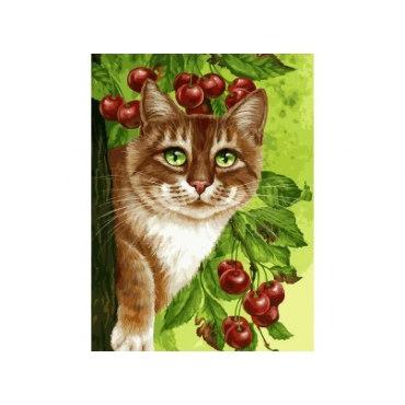 Кот на вишневом дереве
