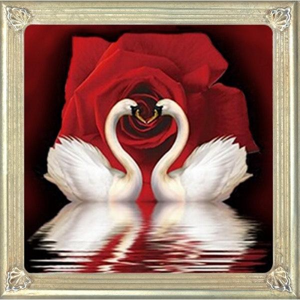 Мозаика из пайеток Лебеди