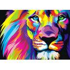Алмазная вышивка Радужный лев