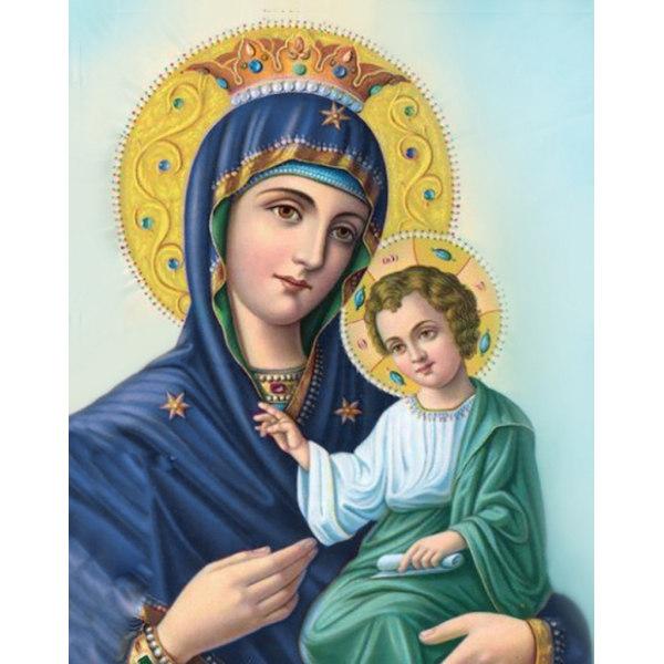 Алмазная вышивка Иверская икона Божией Матери