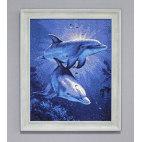 Алмазная вышивка Свидание дельфинов