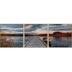 Триптих по номерам Schipper «Восход на озере»