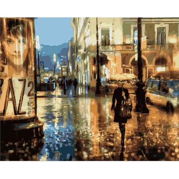 Картина по номерам Артвентура «Ночная прогулка»