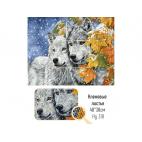 «Кленовые листья» Алмазная вышивка Грани