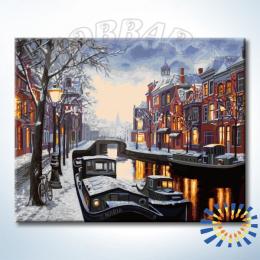 «Припорошенный снегом» картина по номерам
