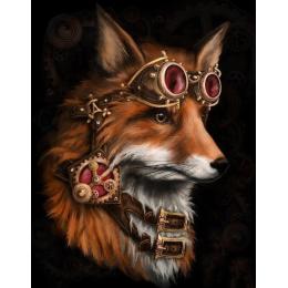 Лиса стимпанк (алмазная мозаика)