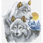 Алмазная вышивка Серые хищники