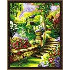 В живописном саду