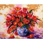 Алмазная вышивка Тюльпаны в вазе