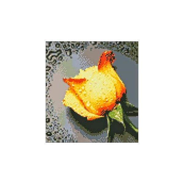 Алмазная вышивка Желтая роза