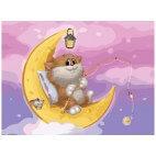 Котик на луне